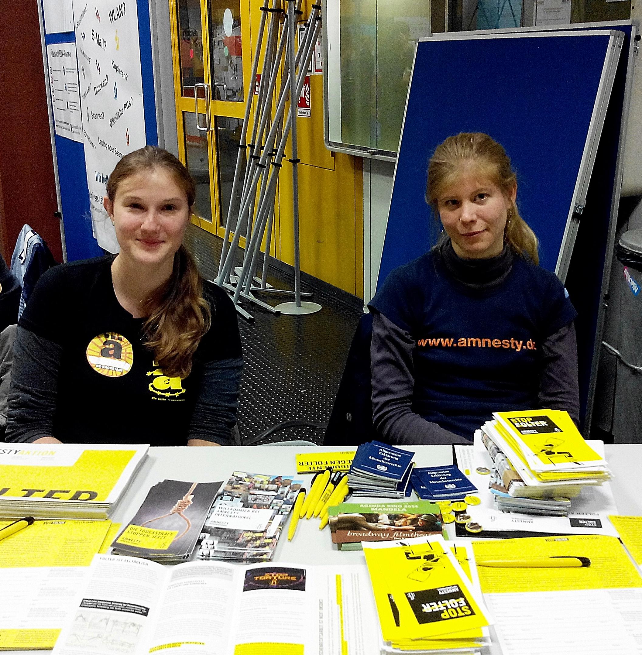 Stand beim Markt der Möglichkeiten an der Uni Trier 2014